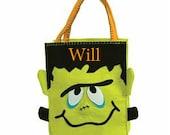 Monogrammed Frankenstein Felt Halloween Bag -FREE SHIPPING