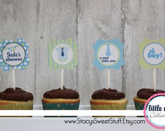 Little Man Cupcake Toppers, DIY, Printable