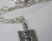 My Heart Necklace - PMC & Sterling Silver