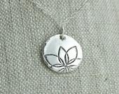 Tiny modern flower necklace