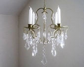 Sale The Ritz Golden Glam 4 Candle Chandelier MADE TO ORDER