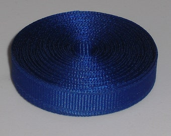 10 Yards Dark Royal Blue 3/8 inch Grosgrain Ribbon