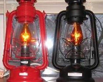 Electric Railroad Lantern - Red or black - New - Handmade