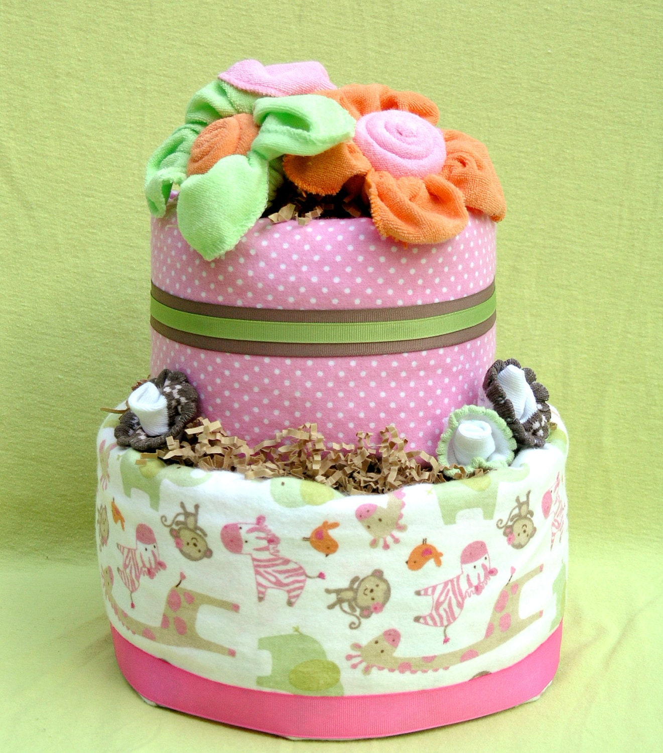 pink safari baby shower diaper cake safari diaper cake for baby