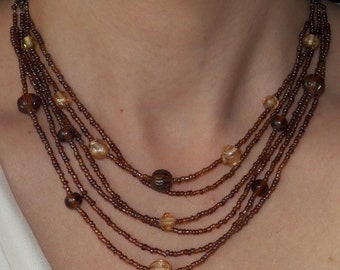 Amber Layered Necklace