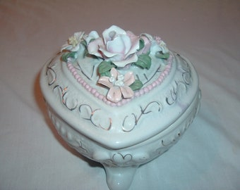 a vintage decorative candy dish