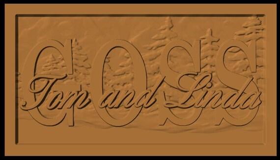 Custom Listing for PsychGal...custom carved name sign-GOSS
