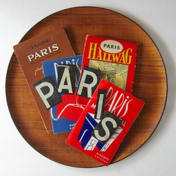 vintage metal letters paris, vintage paris letters, 2 3/8 inches high. paris france