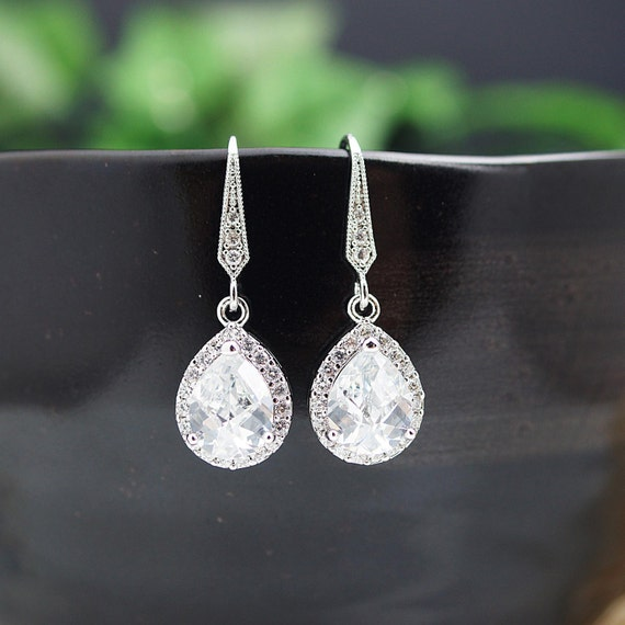 Etsy Wedding Gift Jewelry : Wedding Jewelry Bridal Jewelry Bridal Earrings Bridesmaid Earrings Lux ...