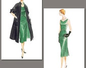 Vogue 1137 Vintage 1950 Coat, Dress, and Belt for Women in Sizes 16-22