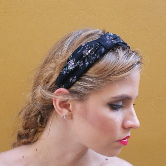 90s Floral Headband FINAL SALE