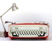 RESERVED - Cursive Type Royal Safari Orange/Red Manual Typewriter