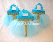 Set of 10 Disney Princess Merida of Brave Inspired Party Favor Tutu Bags