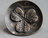 RESERVED LISTING / Large Victorian Clover Button
