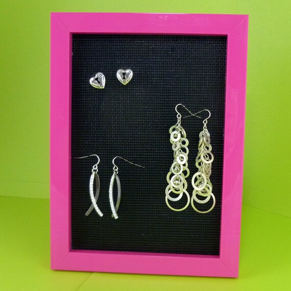 Custom Jewelry Display Frame: Pink Jewelry Display Neon Picture Frame