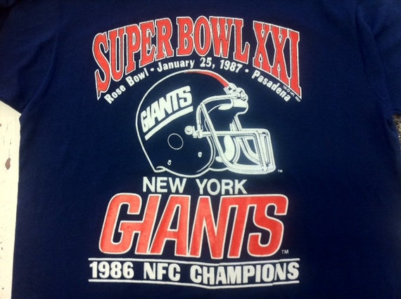 1986 Giants Super Bowl Champs Tshirt