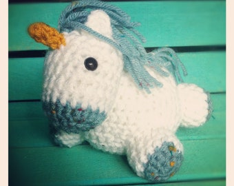 Blue Speckled Baby Unicorn- Pudgies Collection