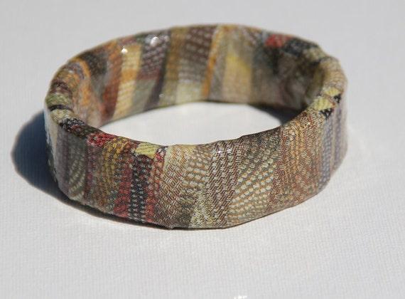 Stippled Fashion Upcycled Magazine Bangle Bracelet