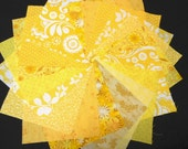 Yellow Quilt Fabrics - Fabric Charm Squares - Sew Fun Quilts Time Saver Quilt Kit