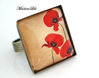 Poppies romance Romantic Ring