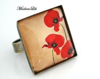 Poppies romance Romantic Ring