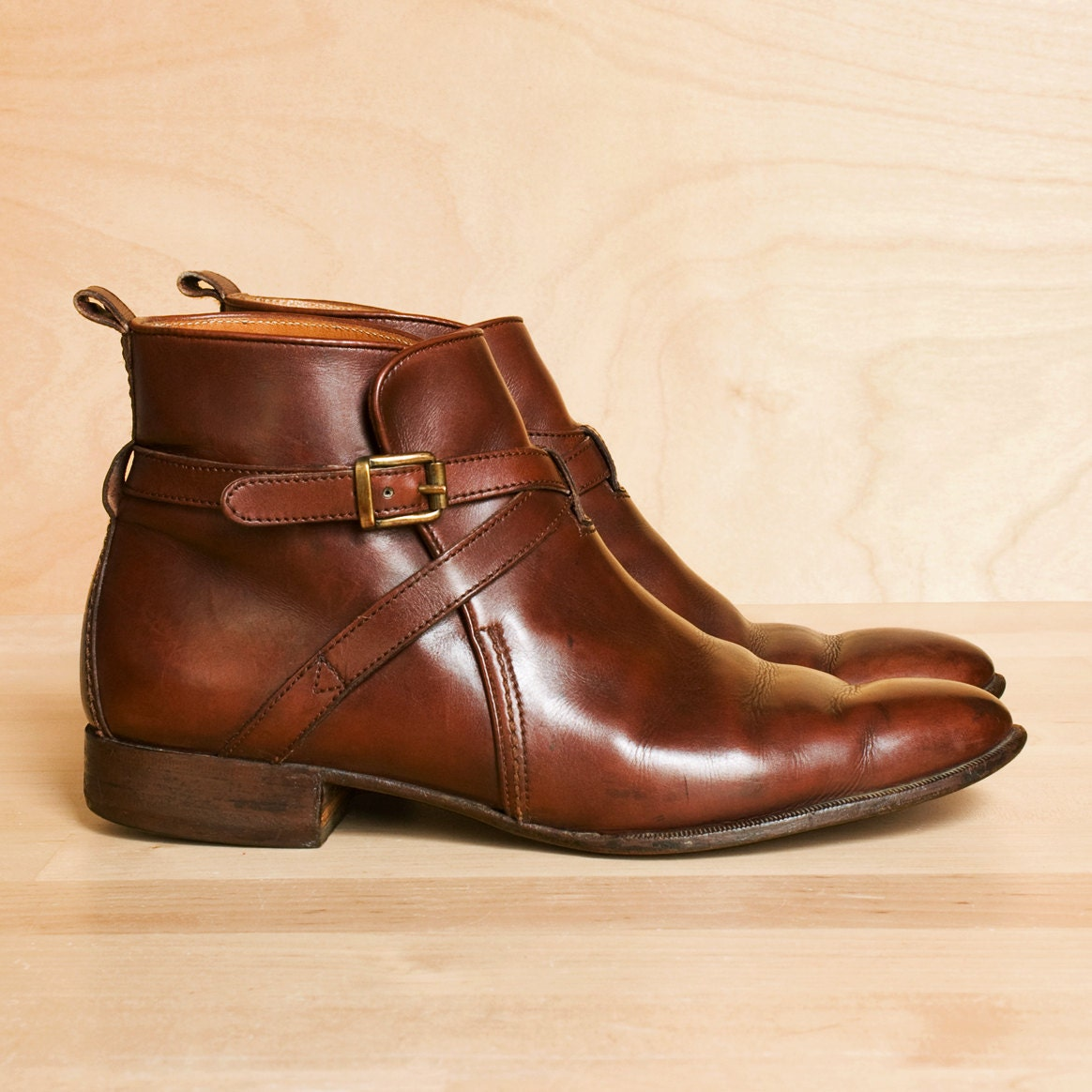 vintage ralph ankle boots 8 5 leather by