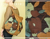 Field Research Backpack, Faux Suede and Floral Teal Bag