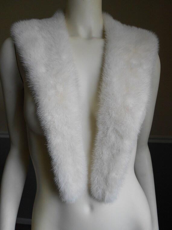 Mink Fur Collar / Cream  / Genuine Fur