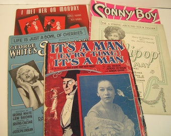 Vintage Sheet Music Collection 1920s - 1940s