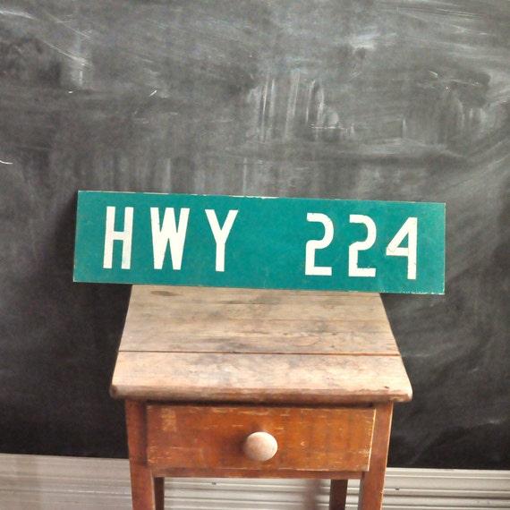 Vintage Highway Street Sign HWY 224 Oregon