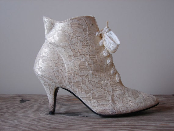 1980s Heels Vintage 80s Victorian Gothic Granny By Jumblelaya