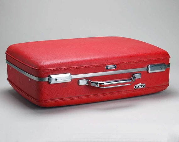 Vintage RED Samsonite luggage small suitcase
