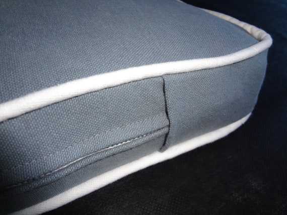 "Bench Seat Cushion,Grey, 58"" x 17"" x 2"", Custom, Use Your Own Fabric, includes foam,double piping and zipper. Made to Order."