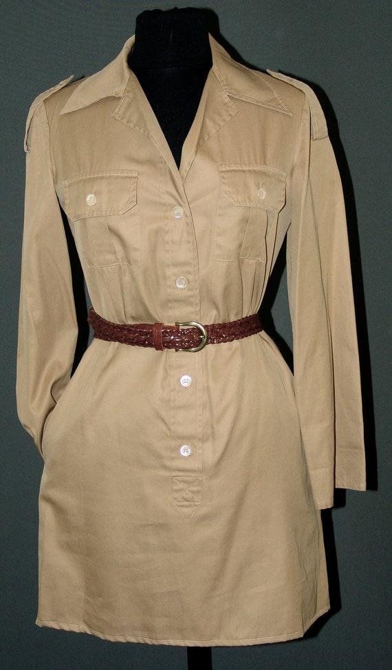 Vintage Uniform  Army Safari Dress