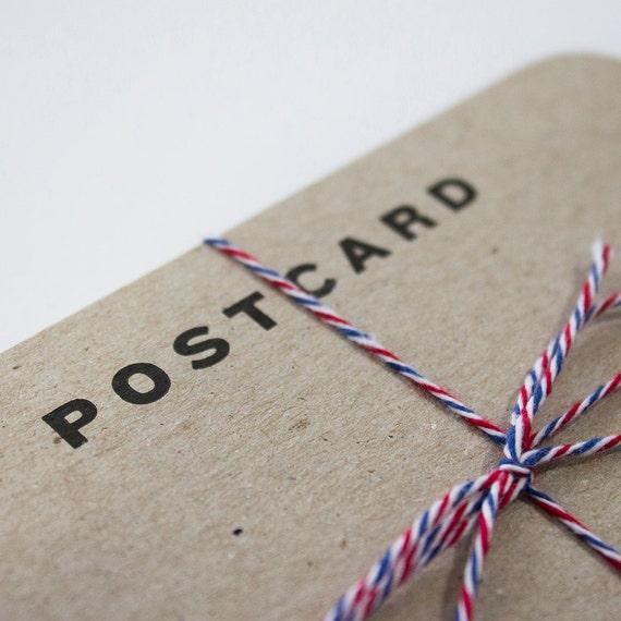 Blank Letterpress Postcards - Bundle of 10