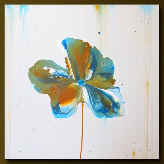 Wild Flower - 24 x 24 - Abstract Acrylic Painting - Contemporary Wall Art