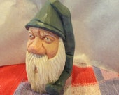 Reserved for Peggy Barton    Carved Wood Santa Ornament