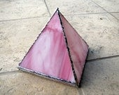 Pink Stained Glass Pyramid