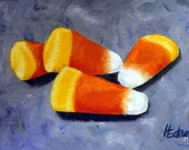 Candy Corn - Original Oil Painting on 5x7 Canvas Board