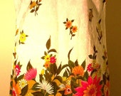Rhapsody by Glazier Chicago New York Los Angeles Flowered Vintage Shift Dress