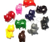 Kitty crayons set of 10