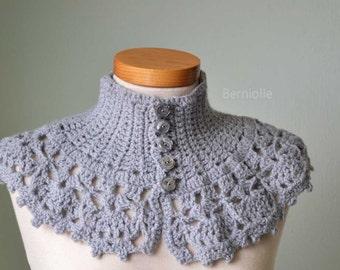 LACY, Crochet capelet/cowl pattern pdf