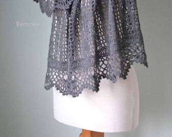 Izumi, Crochet shawl pattern pdf