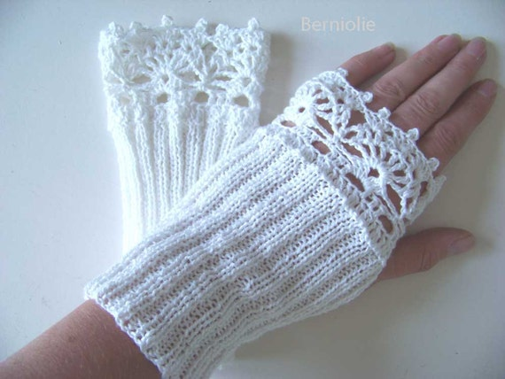 ROXY, Knit/crochet glove pattern, PDF