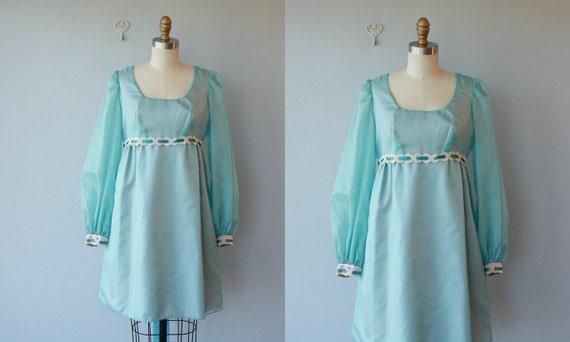 LAST CALL SALE / 1960s party dress / 60s dress / empire waist organza dress / babydoll dress - size small