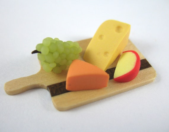 Dollhouse Miniature Food Cheese Board in 12th Scale