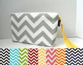 Zippered Diaper Clutch - Custom Design Your Own In Your Choice Of Chevron