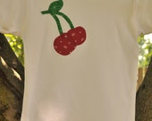 CLEARANCE HUGE SALE Girls / Toddler / Baby Strawberry,  Cherry or Apple Fruit Shirt