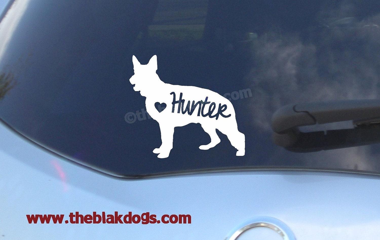 German Shepherd Silhouette Vinyl Sticker Car Decal