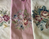 Three Vintage Needlepoint seat cushion covers